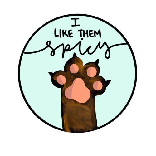 spicy cat paw sticker
