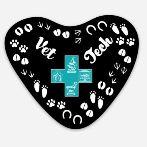 heart sticker vet tech week 2021