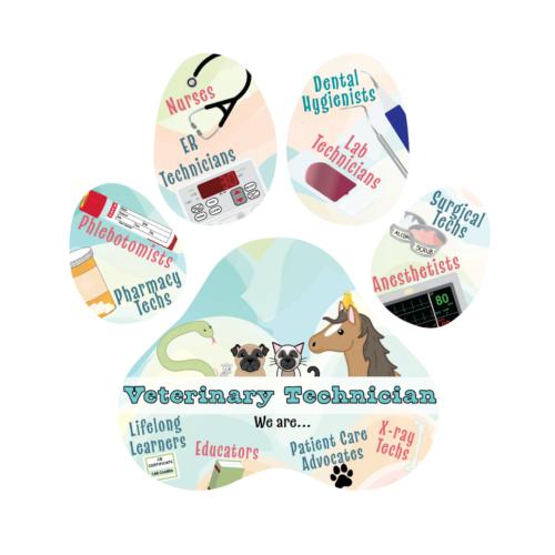 pawprint full of passion vet tech week 2021 sticker