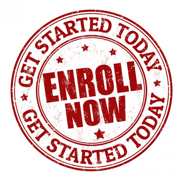 Enroll Now Button to Register for Course